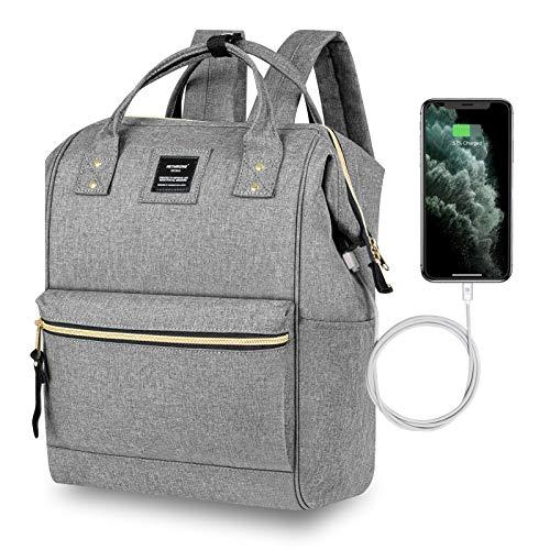 Mochila Mujer Casual Escolar de Moda para Portatil 15.6 Pulgadas, Backpack Mochilas Impermeable para Trabajo Viaje Universidad Instituto con USB