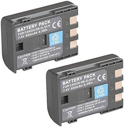 Refuelergy 2x Battery for CANON NB-2L Digital Rebel XT PowerShot S30 S40