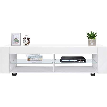 Nero Armadio per Supporto la TV Mobile Porta TV con Telecomando e Illuminazione LED a Orientabile Il Colore 135x39x30cm SONNI Mobile da TV