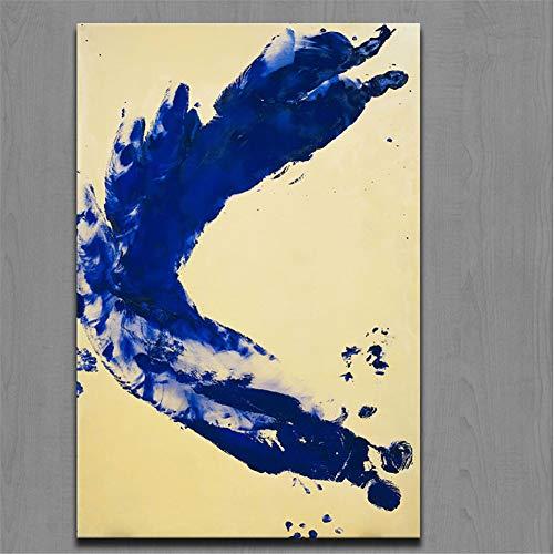 nr Drucke Malerei Kunst Yves Klein Anthropometrie Prinzessin Helena Druck Auf Leinwand Wandkunst Bild Für Wohnkultur50x70cm ungerahmt