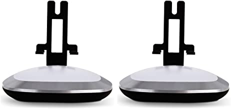 Flexson Lighted Desktop Speaker Stands for Sonos Play 1 with USB Charger - Pair (Black)