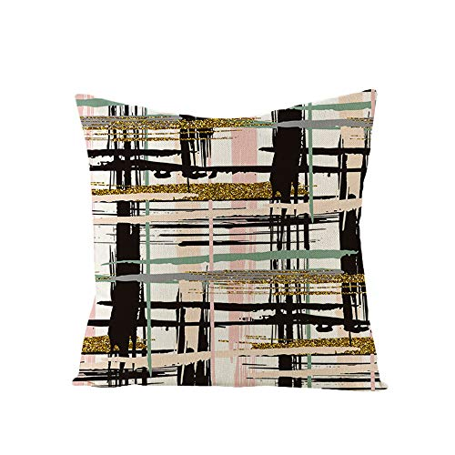 DuangDuang Golden speckled stripes light style pillowcase linen sofa cushion waist pillowcase home