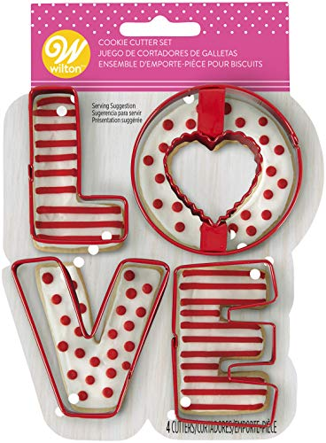 WILTON INDUSTRIES, INC Cookie Cutter Set Love, Amore, taglia unica