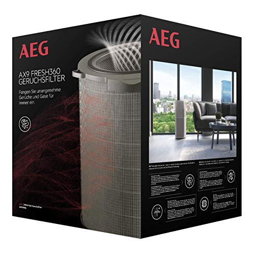 AEG Filtro antiolores, gases para purificador de Aire AX91-604, neutraliza hasta 99,9% , vida útil 2 años