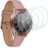 CAVN 4-Stücke Kompatibel mit Samsung Galaxy Watch 3 41mm Schutzfolie Panzerglas, Wasserdichtes Glas Schutz Bildschirmschutzfolie Anti-Kratzen Bildschirmschutz Panzerfolie für Galaxy Watch 3 41mm