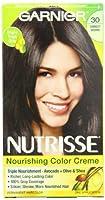Garnier Nutrisseパーマネントヘアカラー、30ダーケスト・ブラウンスウィート・コーラ
