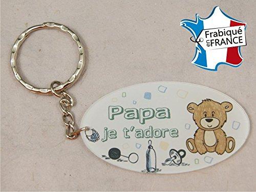 Porte Clef - Papa je t'adore (Cadeau Baptême, fête des pères, anniversaire, Noël …)
