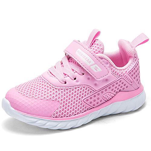 Nasonberg Turnschuhe Kinder Sportschuhe Jungen Mädchen Hallenschuhe Outdoor Fitnessschuhe Trainer Sneaker,rosa,30 EU