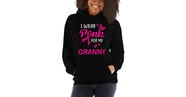 TEEPOMY I Wear Pink for My Granny Breast Cancer Awareness Unisex Hoodie