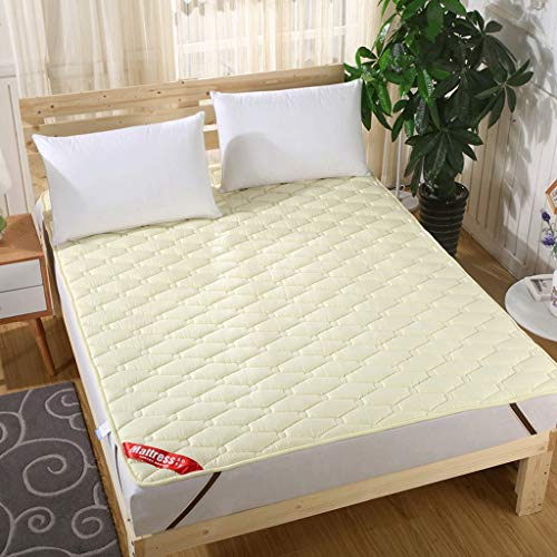 Tatami Cama futon japones Futon Tatami Estera del Piso, futón colchón, futón Plegable Tatami colchón, Suave y Grueso Estudiante compartida Mat (Color : Amarillo, Size : 90X200CM(35X79inch))