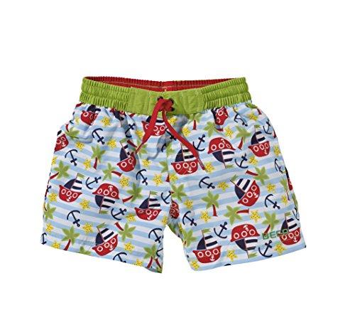 Beco Beermann Jungen Shorts Badeshorts, grün, 116