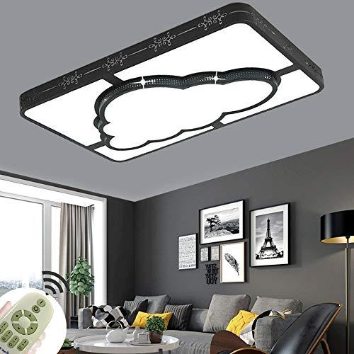 72W Luz de techo Led moderna y creativa Nube rectangular Lámpara de habitación de estudio para niños niñas dormitorio 3 colores regulables [Clase de eficiencia energética A+]