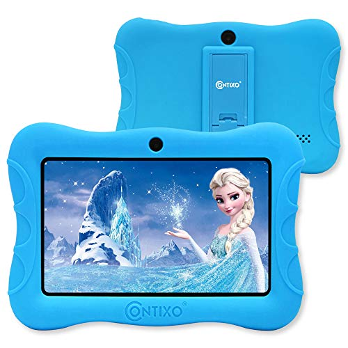 Contixo IZI V9 2GB RAM 32 GB ROM 7 Inch Kids Tablet, Android 10 Operating System, Educational Kids, Parental Control Pre Installed Learning Game Apps WiFi Bluetooth Tablets for Kids 6+ Age (Blue)