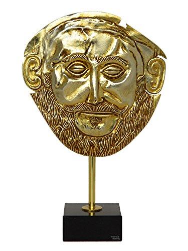 Talos Artifacts Maske von Agamemnon Vergoldet, Relief, Myzinäischer König, Beerdigungsmaske, Reproduktion