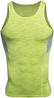 TYZP 長袖のウィッキングと速乾性の服を実行している男性のタイトフィット長袖フィットネスTシャツ (色 : 黄, サイズ さいず : S s)