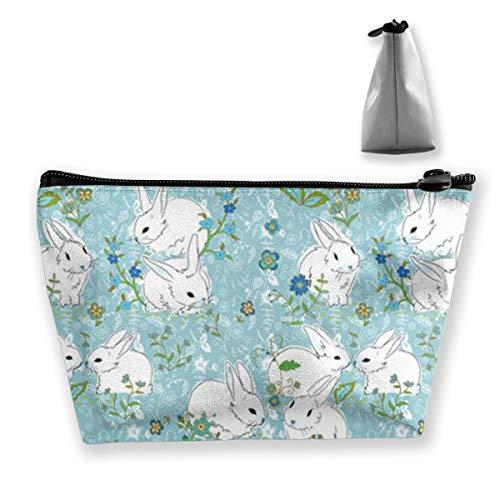 Lapin Bunny Love Organiseur de maquillage Motif floral Bleu