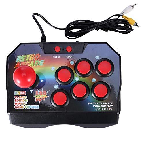 Arcade Console Joystick, Game Controller AV Plug Gamepad met 145 Games for TV Gamepad Bedrade Controller Plug 6 Functietoetsen