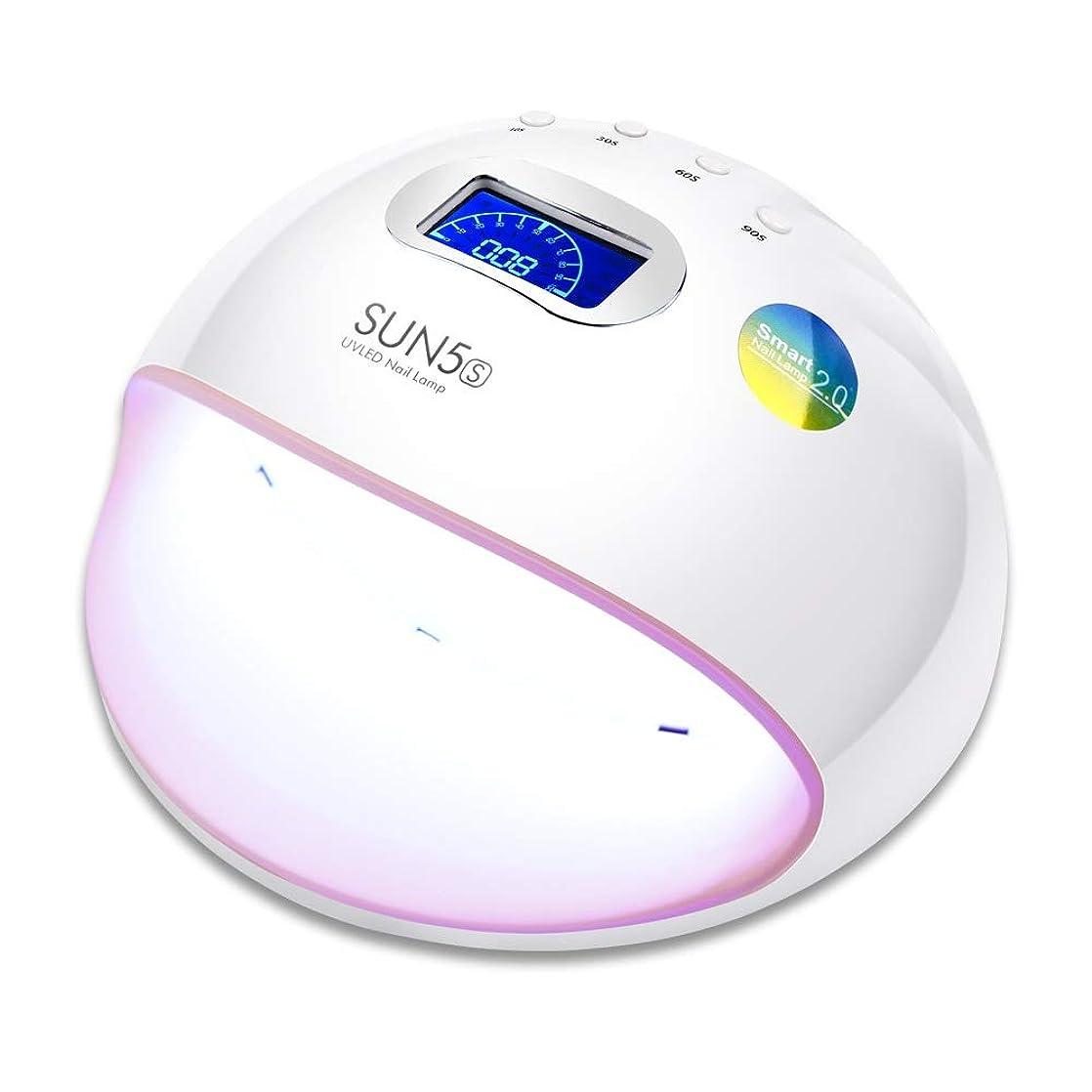 どきどき引き受ける夢中ZHQI-NAIL Ledネイルランプuvランプネイルドライヤー用オールゲルポリッシュマニキュア液晶ディスプレイサンライト赤外線タイマー (色 : White/Pink, Size : US plug)