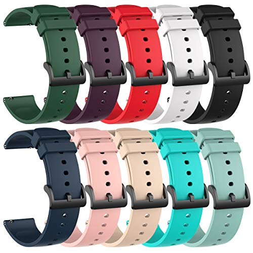 Chofit 10 Pack Silicone Bands Compatible with Amazfit GTS/GTS2/GTS...