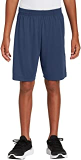 Dri-Wick Youth Sport Performance Moisture Wicking Athletic Shorts with Pockets