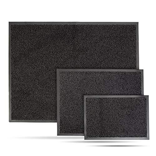 Entrando Schmutzfangmatte 60x90 Anthrazit - 6 Größen - Sauberlaufmatte für Innen und Aussen - Waschbar - Teppich Fussmatte Schmutzmatte