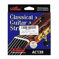 Alice アリスAC139 - Nチタンナイロンクラシックギターストリング6個/セット、正常緊張(0.71mm,1.09mm)