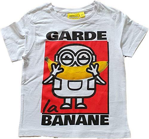 Minions Ich einfach Unverbesserlich T-Shirt La Banana Weiss 128 (8 Jahre)