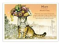 フランス製 キャットポストカード (Mars Mardi Chat) CPK083