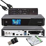 VU+ UNO 4K SE - UHD HDR 1x DVB-S2 FBC Sat Twin Tuner E2 Linux Receiver, YouTube, Satellit Festplattenreceiver, CI + Kartenleser, Media Player, USB 3.0, + EasyMouse HDMI-Kabel, 2TB HDD, 300 Mbit WiFi