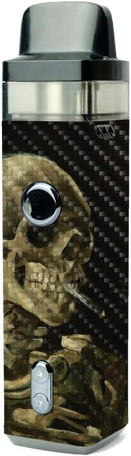 MightySkins Carbon Fiber Skin for VooPoo Sacramento Mall Skull - Vinci with Ciga Over item handling