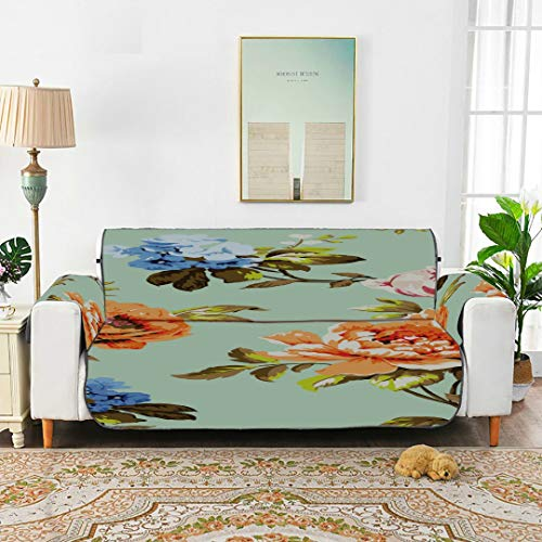WYYWCY Schöne Pfingstrose Ornamental Floral Cover Reclining Sofa Schonbezüge Für Ohrensessel Sofakissenbezüge 66