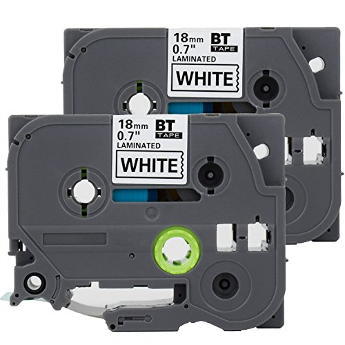 """4PK TZe-241 TZ241 Label Black on White Tape 3//4/"""" for Brother P-Touch PT-D400AD"""