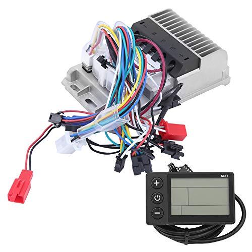 FOLOSAFENAR Kit de Controlador de Motor, triciclos eléctricos de 36/48 V y 500 W, Conjunto de LCD de Instrumentos de Controlador sinusoide sin escobillas de 3 Modos, para Bicicleta eléctrica,