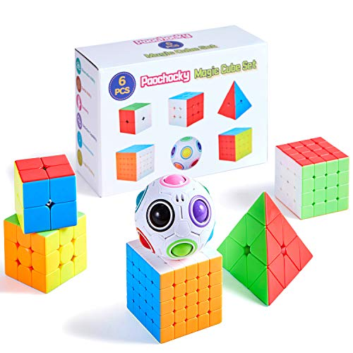 Paochocky 6pcs Speed Magico Cubo Set - Smooth Magic Puzzle Cube 2x2x2 3x3x3 4x4x4 5x5x5...