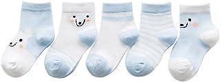 Black Temptation, 5 pares unisex del bebé Calcetines, 1-3 años de edad del bebé del algodón Calcetines [D]