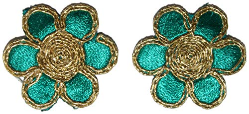 Indian Designer Applique bloemen groene patch jurk patch haarband applique knutselen patches applique decor-Prijs voor 05 patch-IDE32