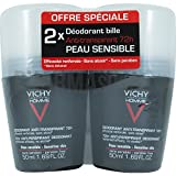 Vichy Homme 72H Desodorante Roll On Antitranspirante paquete de 2 x 50 ml