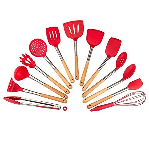 FGH QPLKKMOI Silicone Cooking Utensils Kitchen Utensil Set, 13 Cooking Utensils, Colored Best Kitchen Gadgets
