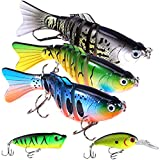 Fishing Lures for Bass 3.9 inch 7 Segment Multi Jointed Swimbaits Bass Slow Sinking Hard Lure Fishing Tackle Kits Lifelike