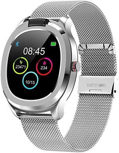 Reloj Inteligente Temperatura Del Cuerpo Pulsera Inteligente Prueba De Temperatura Del Cuerpo-Plata