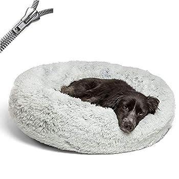 Puppy Love Panier Chien, Coussin Chien Anti Stress XXXL Dehoussable, Paniers Et Mobilier pour Chiens, Orthopedique Lit Apaisant Comfy pour Chien, Améliorer Le SommeilGray-70cm