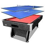 7 FT MDF Pool Table Game Room Snooker Billiard Table Black Frame