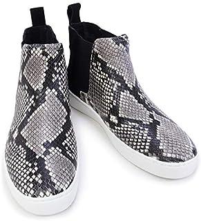 [MICHAEL KORS] アウトレット品 [マイケル?コース] 靴 KEATON BOOTIE ハイカットスニーカー ブーティ スネーク柄 ブラック 6Mサイズ (43R6KTFE5S BLACK) [並行輸入品]