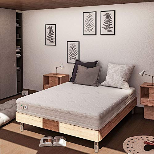 Baldiflex Single Mattress in Memory Plus Top Air, Size 70x200x25 cm, 7 Differentiated Zones with Removable Cover in Silver Safe, Ergonomic, Anti-mite, Breathable, Cus. Soap incl.