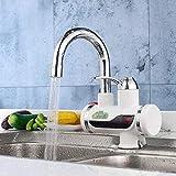 UOMUN Faucet de baño 3000W Ducha eléctrica eléctrica Faucet Hot Instantáneo Cocina de Agua eléctrica Calentamiento de Agua Instantáneo Calentador 25x11cm