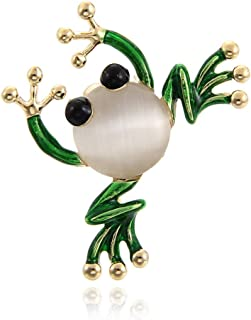 Durable Cute Frog Insect Brooch Colorful Wedding Brooch Fashion Jewelry Gift Beige
