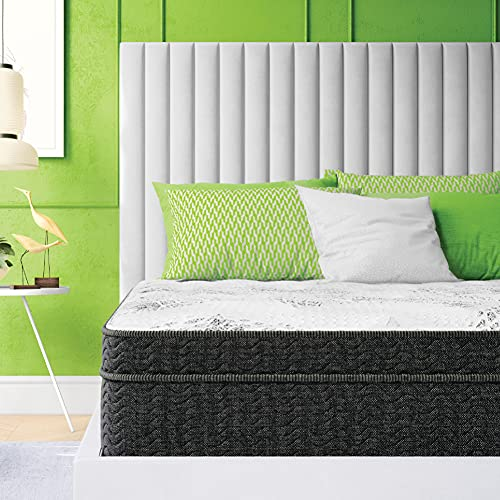 Classic Brands Celadon Hybrid Gel Memory Foam and Innerspring 12-Inch Mattress , Queen, White