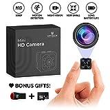 Small Hidden Mini Spy Camera - Secret Tiny Spy Cam for Home or Car with Motion...