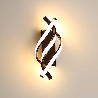 AUA Applique Murale à LED, Applique Murale Moderne 18W, Applique Murale Design incurvée 3000K lumière Blanche Chaude, 1200...