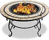 Centurion Unterstützt Fireology BELUGA Garten Patio Heizung Feuerstelle, Couchtisch, Barbecue und Eis Eimer - Marmor